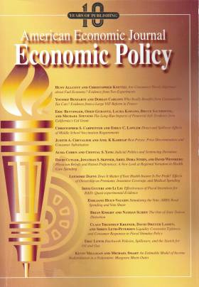 American Economic Journal: Economic Policy – Volume 11 – Nº 1 – February 2019