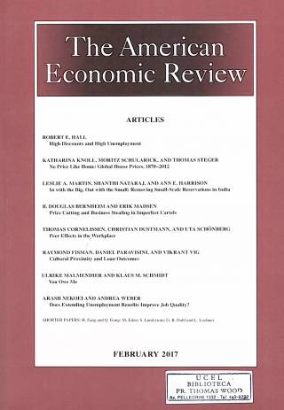 The American Economic Review – Vol. 107 – N°2 – February 2017