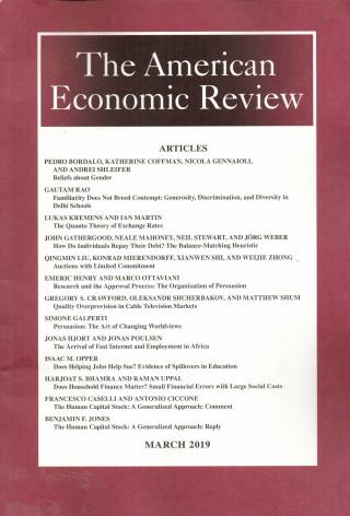 The American Economic Review – Volume 109 – Nº 3 – March 2019