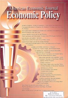 The American Economic Journal - Economic Policy. November 2017 – Nº 4 – vol.9