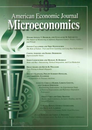 American Economic Journal: Microeconomics – Volume 11 – Nº 1 – February 2019
