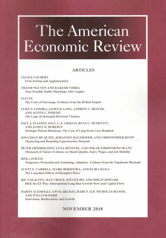 The American Economic Review – Volume 108 – Nº 11 – November 2018