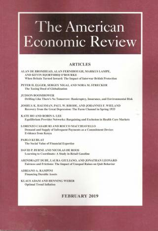 The American Economic Review – Volume 109 – Nº 2 – February 2019