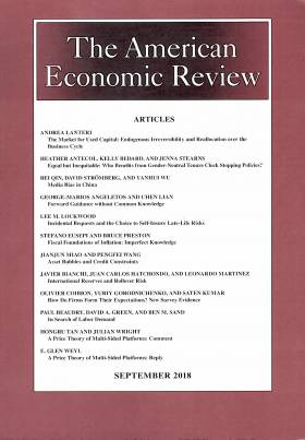 American Economic Review - Volume 108 - Number 9 - September 2018